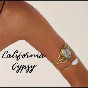 Jewelry - Gypsy gold rose quartz boho bracelet